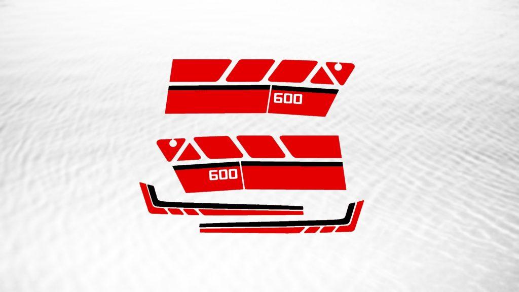 XT600Z 3AJ Decal Kit Red